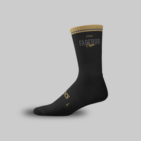 FabFour Coffee Black Socks